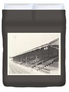 Reading - Elm Park - Norfolk Road Stand 2 - Bw - 1970 Duvet Cover