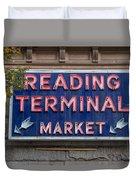 Reading Terminal Market Duvet Cover