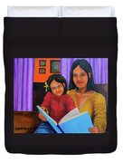 Reading With Mom Duvet Cover