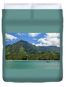 Ready To Sail In Hanalei Bay Duvet Cover