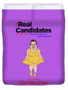 Real Candidates Of The Gop - Chris Christie - The Man-eater Duvet Cover