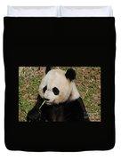 Really Cute Giant Panda Bear With Bamboo Duvet Cover