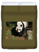 Really Sweet Giant Panda Bear Waddling Around Duvet Cover