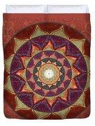 Realm Of The Desert Lotus Mandala Duvet Cover