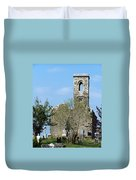 Rear View Fuerty Church And Cemetery Roscommon Ireland Duvet Cover