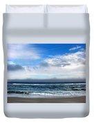 Receding Fog Seascape Duvet Cover