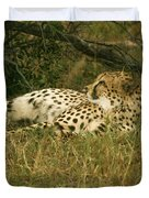 Reclining Cheetah Profile Duvet Cover