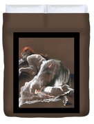 Reclining Figure With Skirt Duvet Cover