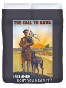 Recruitment Poster The Call To Arms Irishmen Dont You Hear It Duvet Cover
