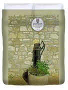 Rectory Mansion And Hand Pump - Brading Duvet Cover
