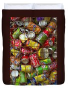 Recycling Cans Duvet Cover by Carlos Caetano