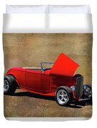 Red 1932 Ford Hot Rod  Duvet Cover