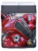 Red 1938 Plymouth Duvet Cover
