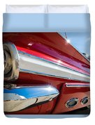 Red 1960 Chevy Low Rider Duvet Cover
