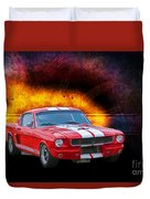 Red 1966 Mustang Fastback Duvet Cover