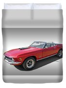 Red 1970 Mach 1 Mustang 351 Cleveland Duvet Cover