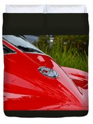 Red 63 Vette Duvet Cover