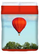 Red Above The Trees Duvet Cover