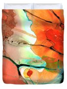 Red Abstract Art - Decadence - Sharon Cummings Duvet Cover