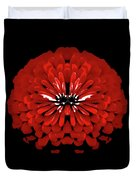 Red Abstract Flower One Duvet Cover