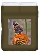 Red Admiral Butterfly On Coneflower              July              Indiana Duvet Cover