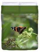 Red Admiral Duvet Cover