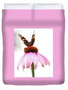 Red Admiral On Echinacea Duvet Cover
