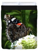 Red Admiral - Underside Duvet Cover