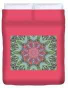 Red Amaryllis Trio Kaleidoscope Duvet Cover