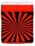 Red And Black Abstract #3 Duvet Cover