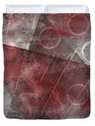 Red And Black Abstract Monoprint Duvet Cover