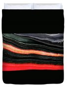 Red And Black Art - Fire Lines - Sharon Cummings Duvet Cover
