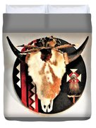 Red And Black Buffalo Design Duvet Cover