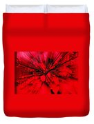 Red And Black Explosion Duvet Cover