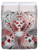 Red And Black -f E- Duvet Cover