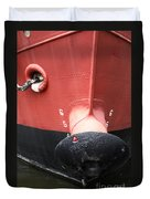 Red And Black Prow Duvet Cover