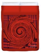 Red And Black Swirl - Modern/contemporary Painting Duvet Cover