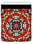 Red And Blue Stones Duvet Cover