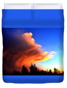 Red And Blue Sunset Duvet Cover