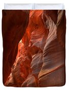 Red And Brown Swirling Sandstone Duvet Cover