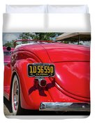 Red And Chrome Duvet Cover
