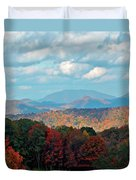 Red And Green Blue Ridge Mountains Duvet Cover
