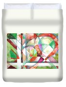 Red And Green Duvet Cover by Mindy Newman