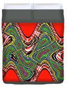 Red And Green Thing Duvet Cover
