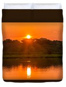 Red And Orange Jungle Sunset Duvet Cover