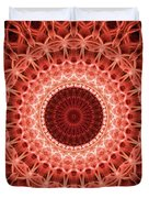 Red And Orange Mandala Duvet Cover