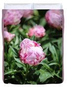 Red And Pink Peony Duvet Cover