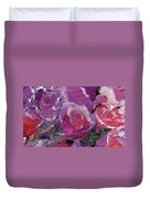 Red And Violet Roses Duvet Cover