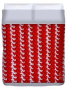Red And White Knit Duvet Cover