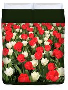 Red And White Duvet Cover by Tracy Hall